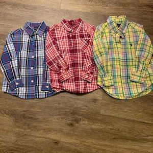 Stylish! Toddler boys bundle of 3 button-downs